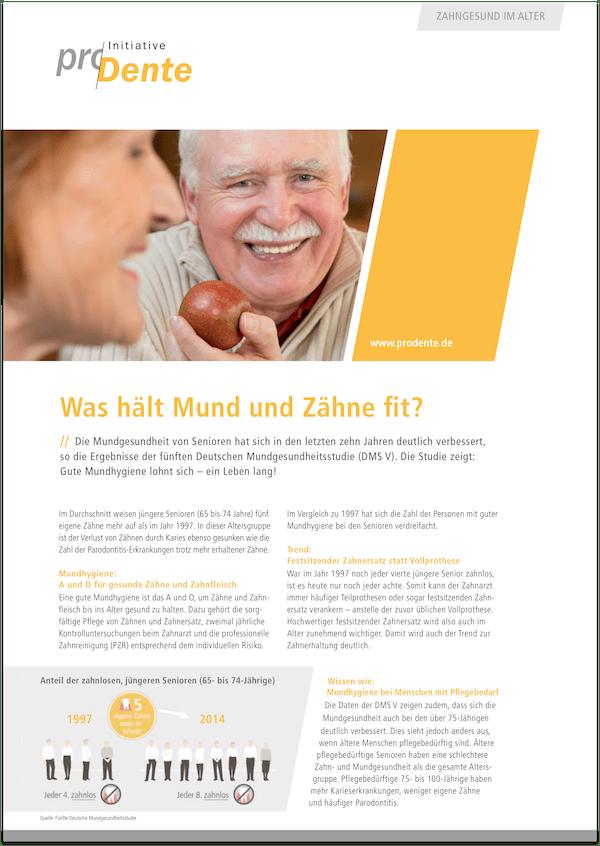 Broschüre Alterszahnheilkunde