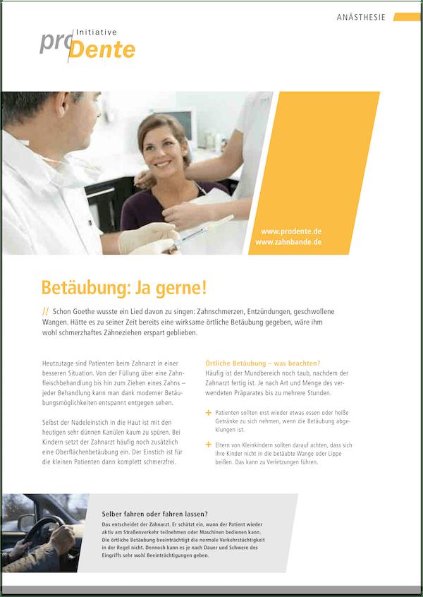 Broschüre Anästhesie