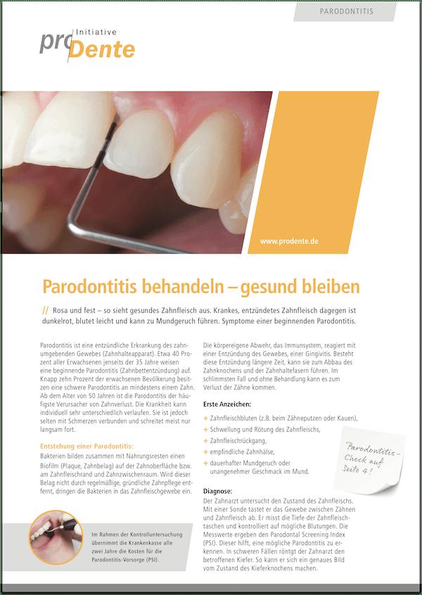 Broschüre Parodontologie